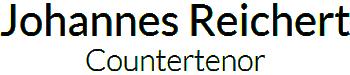 Logo Johannes Reichert | Countertenor